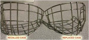 t3 goalie cage recall